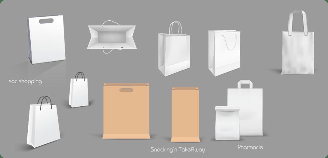 atelier cortical studio graphique sachet sac papier